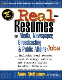 Real-Resumes for Media, Newspaper, Broadcasting & Public Affairs Jobs