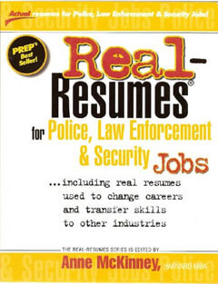 Real-Resumes for Police, Law Enforcement & Security Jobs